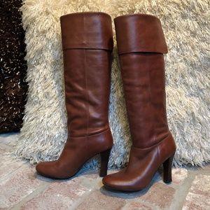 Steve Madden Cognac Leather High Boots